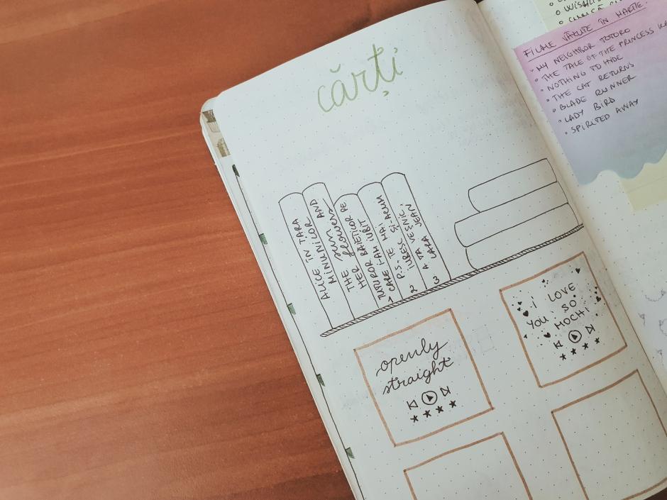 Cum țin evidența cărților în bullet journal